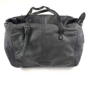 Lieberskind Leather Satchel bag, gray/brown.